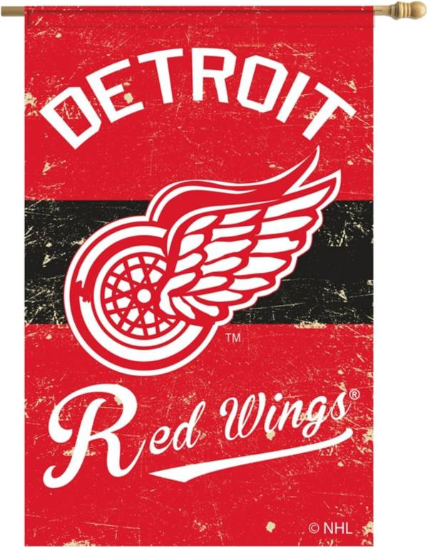 Evergreen Detroit Red Wings Vintage Garden Flag product image
