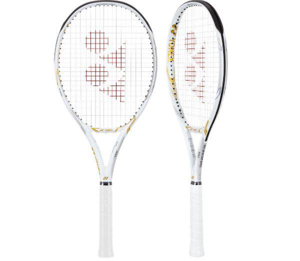 Yonex Limited Edition Ezone 100L White and Gold Tennis Racquet product image