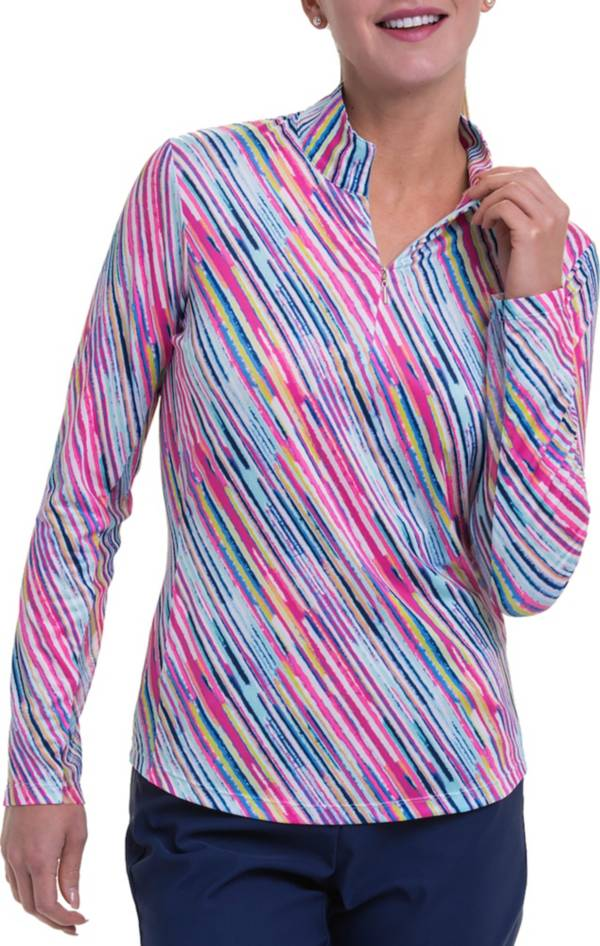 EPNY Women's Watercolor Long Sleeve Golf Polo product image