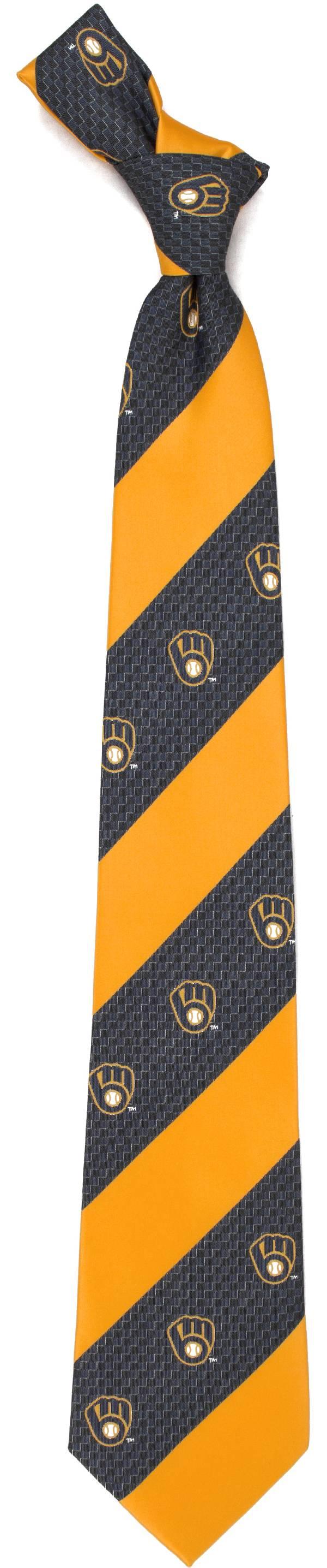 Eagles Wings Milwaukee Brewers Geo Stripe Necktie product image