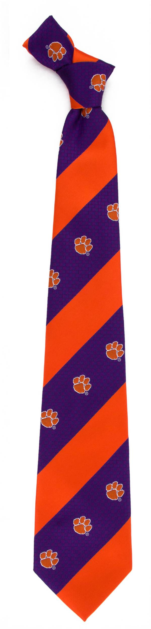 Eagles Wings Clemson Tigers Geo Stripe Necktie product image