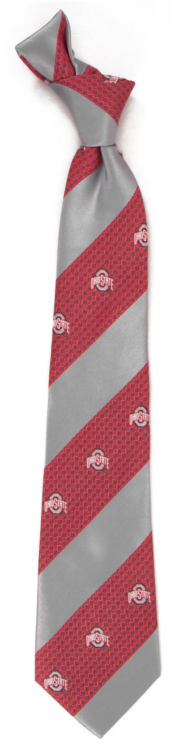 Eagles Wings Ohio State Buckeyes Geo Stripe Necktie product image
