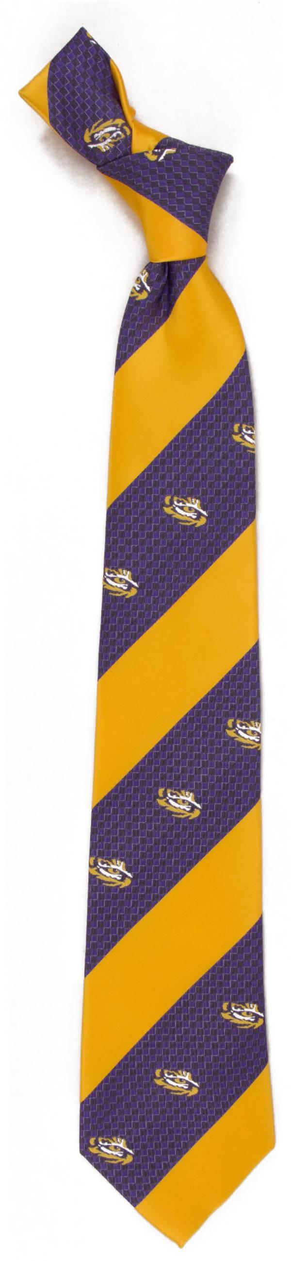 Eagles Wings LSU Tigers Geo Stripe Necktie product image