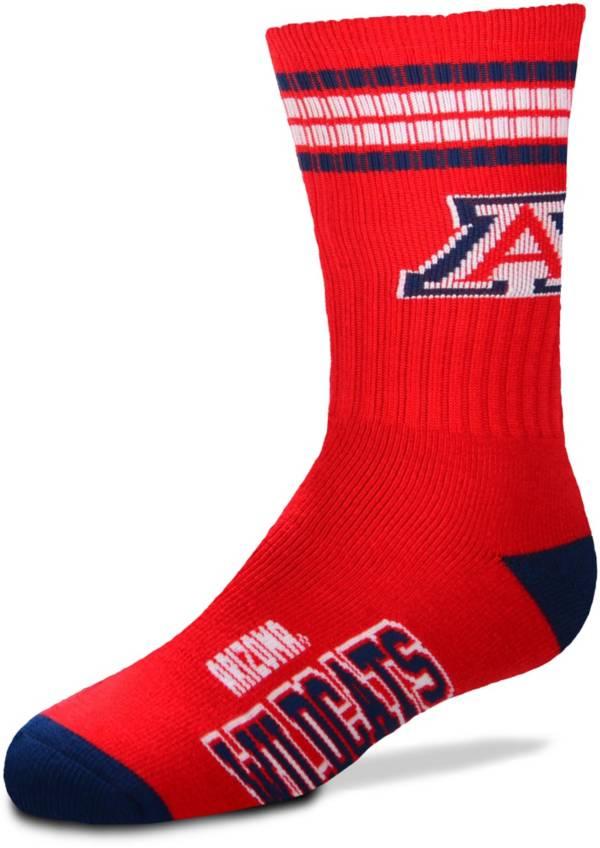 For Bare Feet Youth Arizona Wildcats 4-Stripe Deuce Crew Socks product image