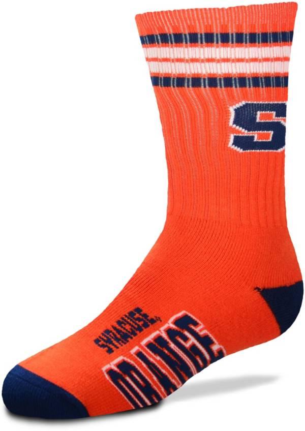 For Bare Feet Youth Syracuse Orange 4-Stripe Deuce Crew Socks product image