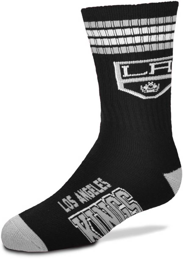 For Bare Feet Youth Los Angeles Kings 4-Stripe Deuce Crew Socks product image