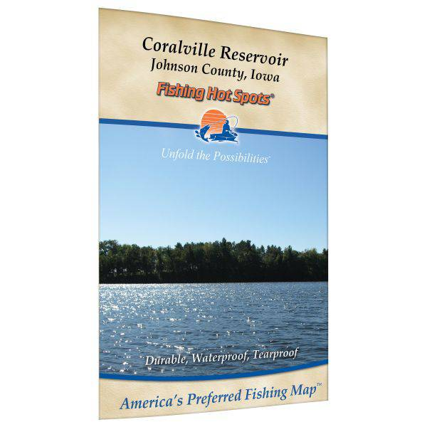 Fishing Hot Spots Coralville Reservoir Fishing Map product image