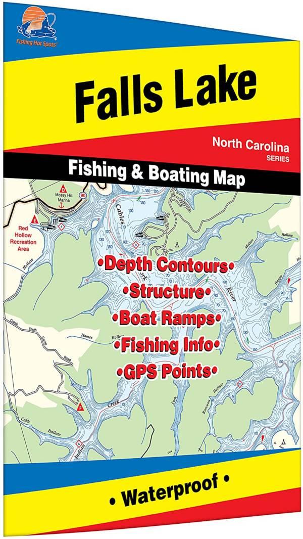 Fishing Hot Spots Falls Lake Fishing Map product image