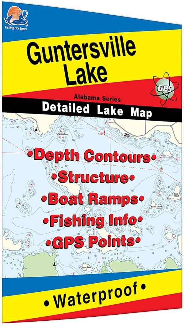 Fishing Hot Spots Guntersville Lake Fishing Map product image