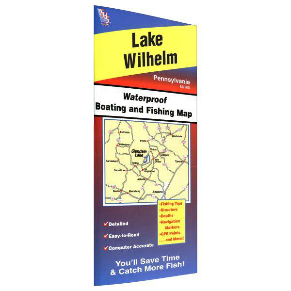 Fishing Hot Spots Wilhelm Lake Fishing Map product image