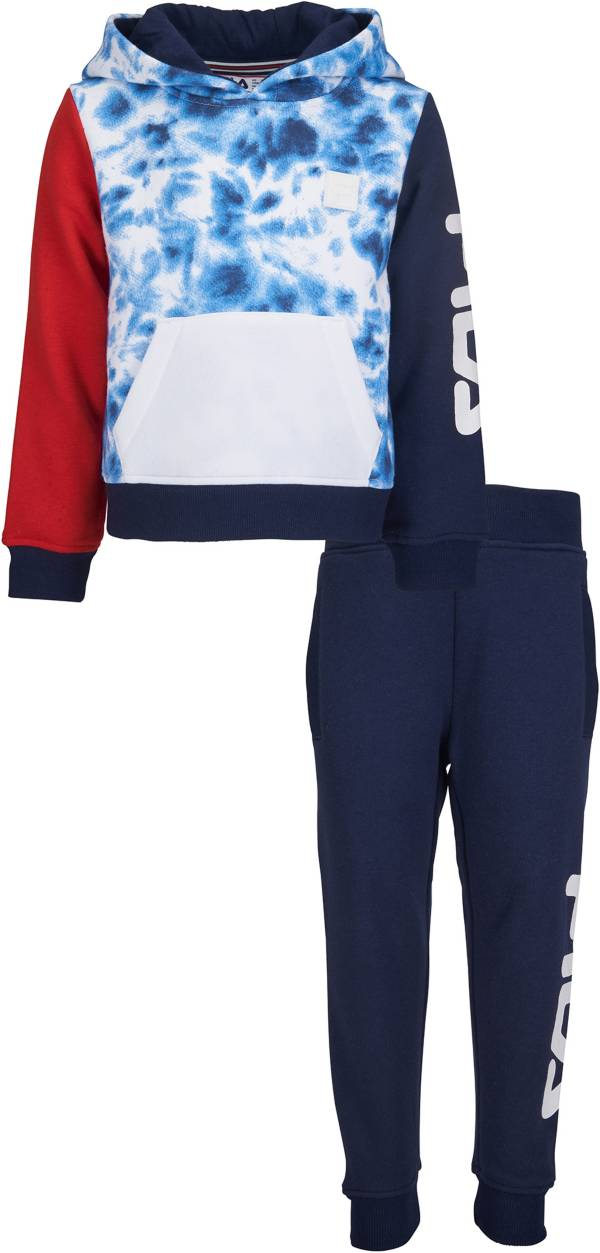 FILA Little Boys' Gian Tie Dye Pullover Hoodie and Jogger Pants Set product image