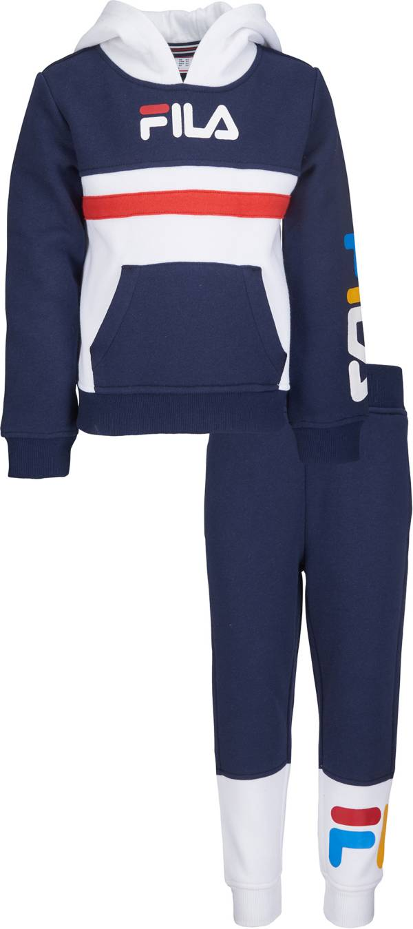 FILA Little Boys' Ansel Pullover Hoodie and Jogger Pants Set product image