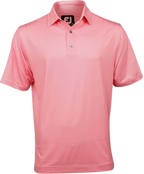FootJoy Men's Heather Lisle Houndstooth Self Collar Golf Polo product image