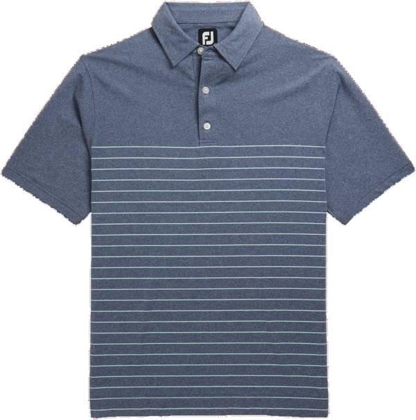 FootJoy Men's Heather Lisle Engineered Pinstripe Short Sleeve Golf Polo product image