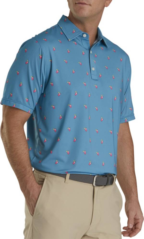 FootJoy Men's Lisle Cocktail Print Golf Polo product image