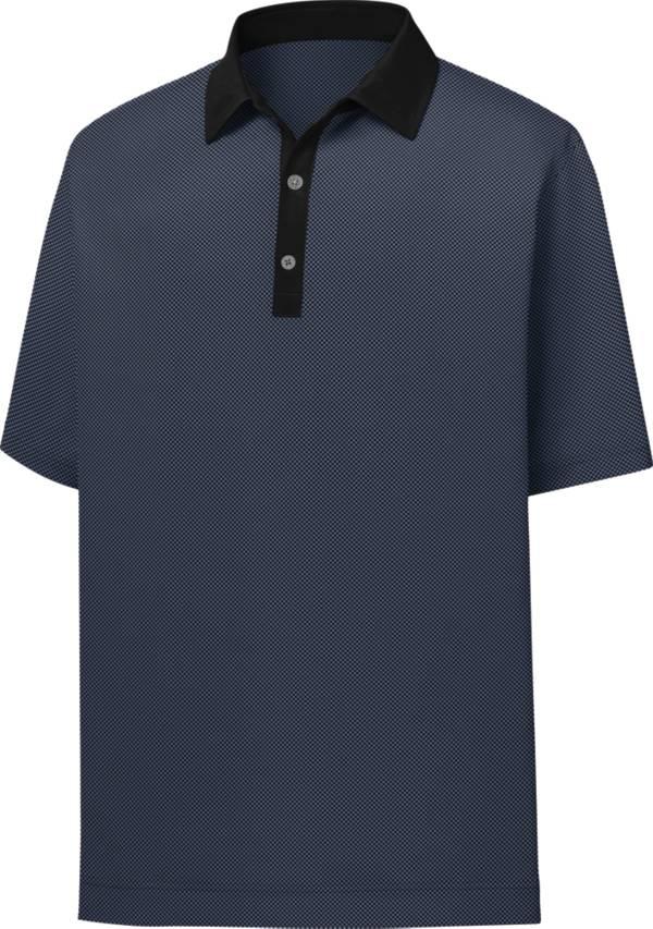 FootJoy Men's Lisle Minicheck Print Short Sleeve Golf Polo product image