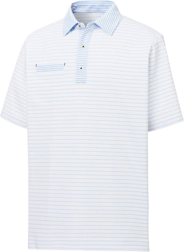 FootJoy Men's Lisle Mixed Pinstripe Short Sleeve Golf Polo product image
