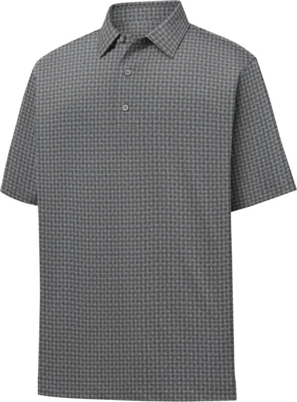 FootJoy Men's Lisle Open Weave Print Short Sleeve Golf Polo product image