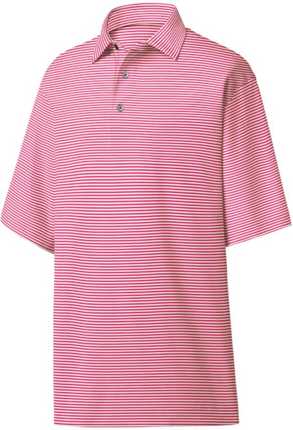 FootJoy Men's Lisle Feeder Stripe Self Collar Golf Polo product image