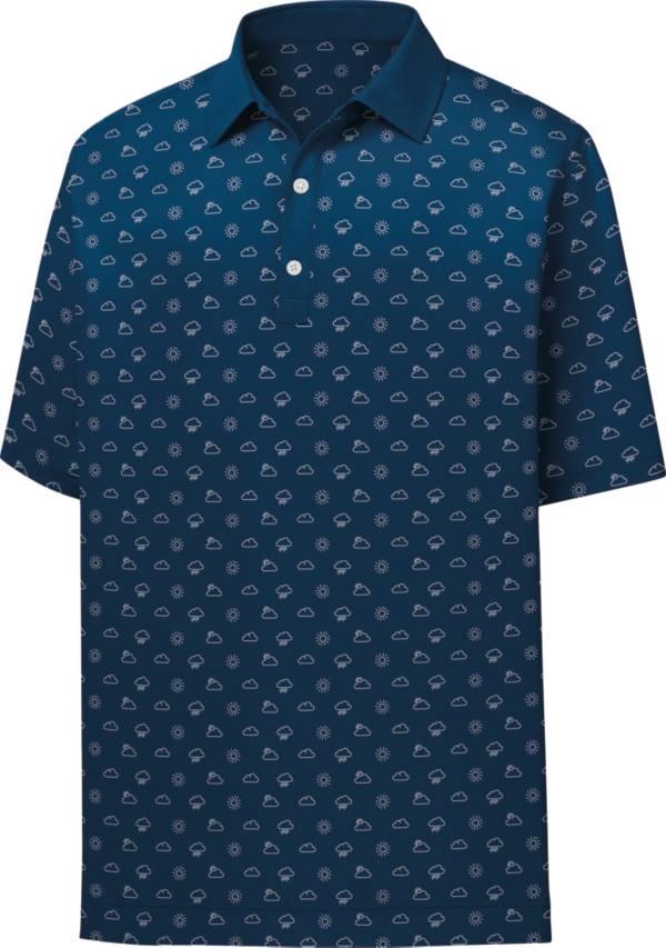 FootJoy Men's Lisle Weather Print Short Sleeve Golf Polo product image