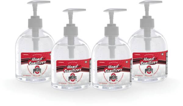 Fanmats Ohio State Buckeyes 16 oz. Pump Top Hand Sanitizer – 4 Pack product image