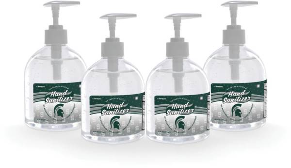 Fanmats Michigan State Spartans 16 oz. Pump Top Hand Sanitizer – 4 Pack product image