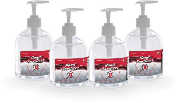 Fanmats Utah Utes 16 oz. Pump Top Hand Sanitizer – 4 Pack product image