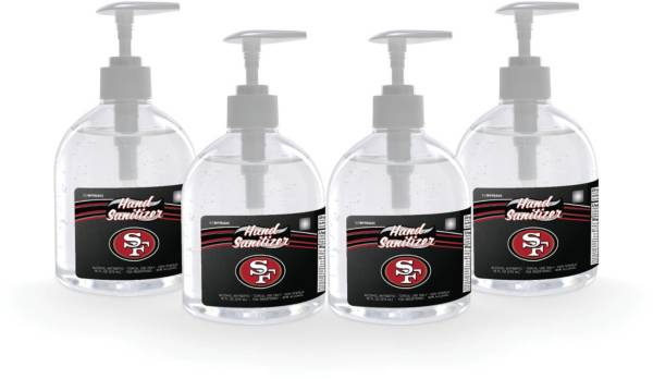 Fanmats San Francisco 49Ers 16 oz. Pump Top Hand Sanitizer – 4 Pack product image