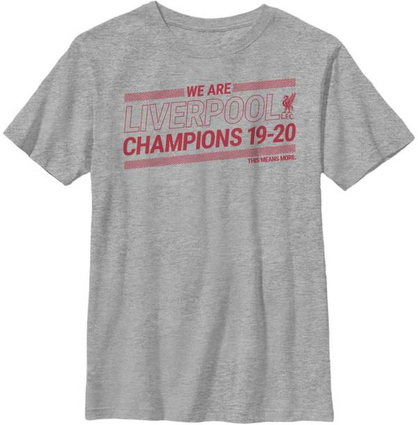 Fifth Sun Youth 2019-2020 League Champions Liverpool FC Grey T-Shirt product image