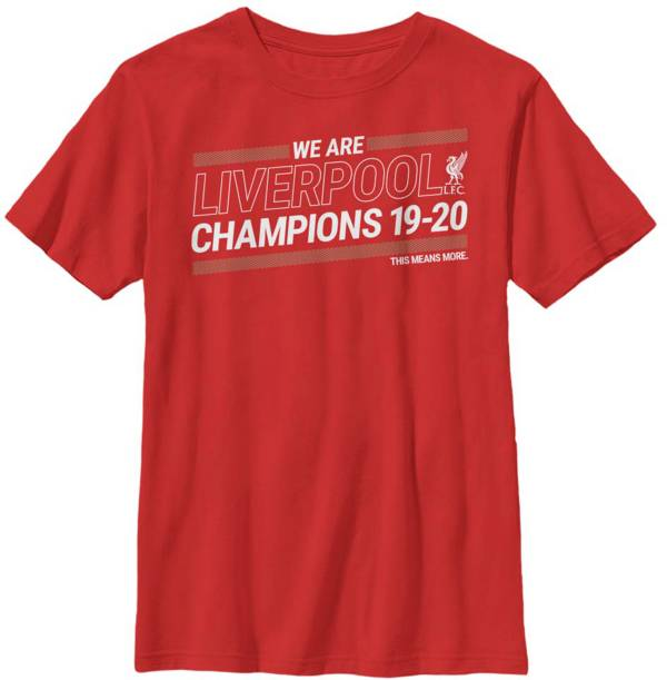 Fifth Sun Youth 2019-2020 League Champions Liverpool FC Red T-Shirt product image