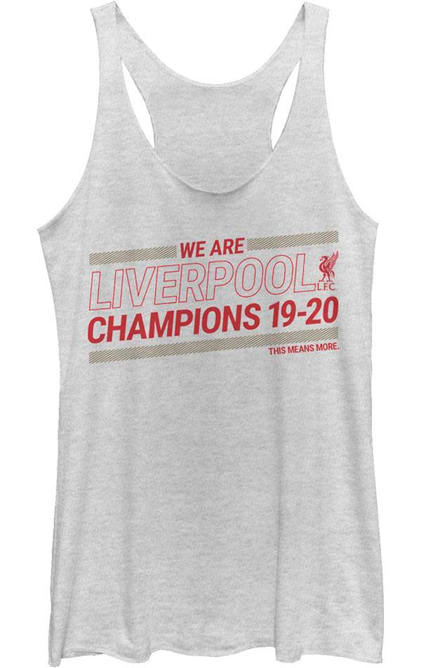 Fifth Sun Juniors' 2019-2020 League Champions Liverpool FC White Tank Top product image