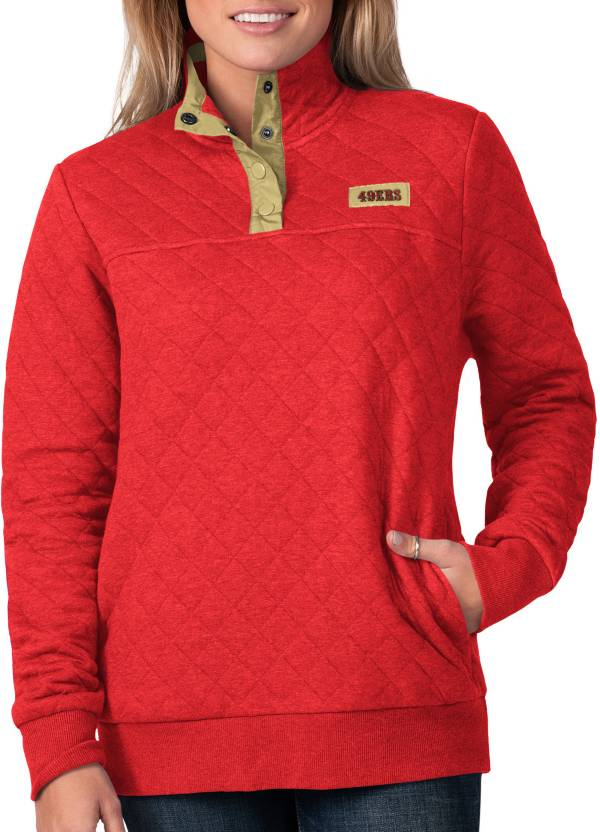 G-III For Her Women's San Francisco 49ers Quillted Red Pullover product image