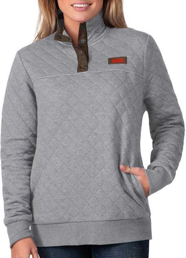 G-III For Her Women's Cleveland Browns Quillted Grey Pullover product image