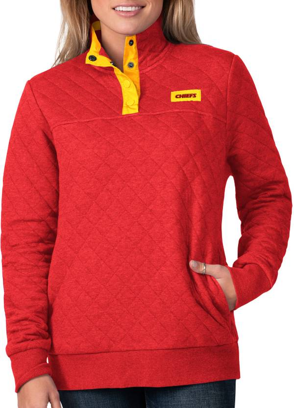 G-III For Her Women's Kansas City Chiefs Quillted Red Pullover product image