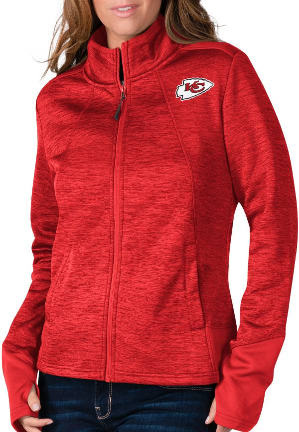 G-III For Her Women's Kansas City Chiefs Space Dye Red Full-Zip Jacket product image