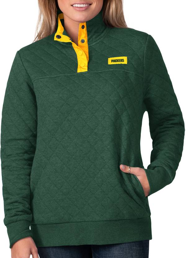 G-III For Her Women's Green Bay Packers Quillted Green Pullover product image