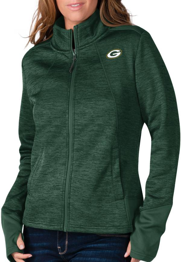 G-III For Her Women's Green Bay Packers Space Dye Green Full-Zip Jacket product image