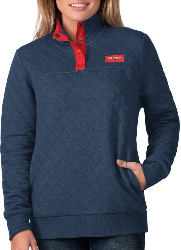 G-III For Her Women's New England Patriots Quillted Navy Pullover product image