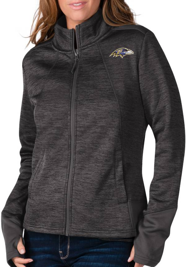 G-III For Her Women's Baltimore Ravens Space Dye Black Full-Zip Jacket product image