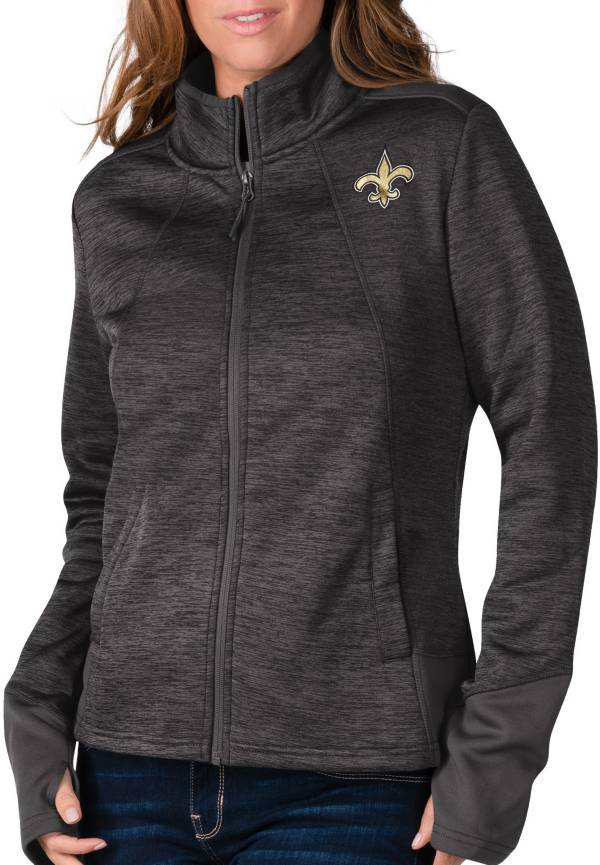 G-III For Her Women's New Orleans Saints Space Dye Black Full-Zip Jacket product image