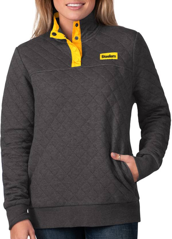 G-III For Her Women's Pittsburgh Steelers Quillted Black Pullover product image