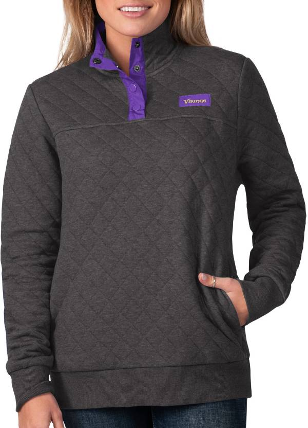 G-III For Her Women's Minnesota Vikings Quillted Black Pullover product image