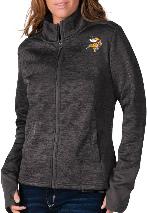 G-III For Her Women's Minnesota Vikings Space Dye Black Full-Zip Jacket product image