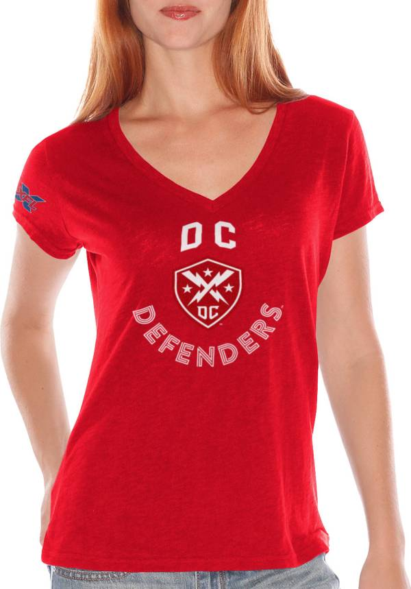 G-III For Her Women's XFL DC Defenders Fair Catch Red T-Shirt product image