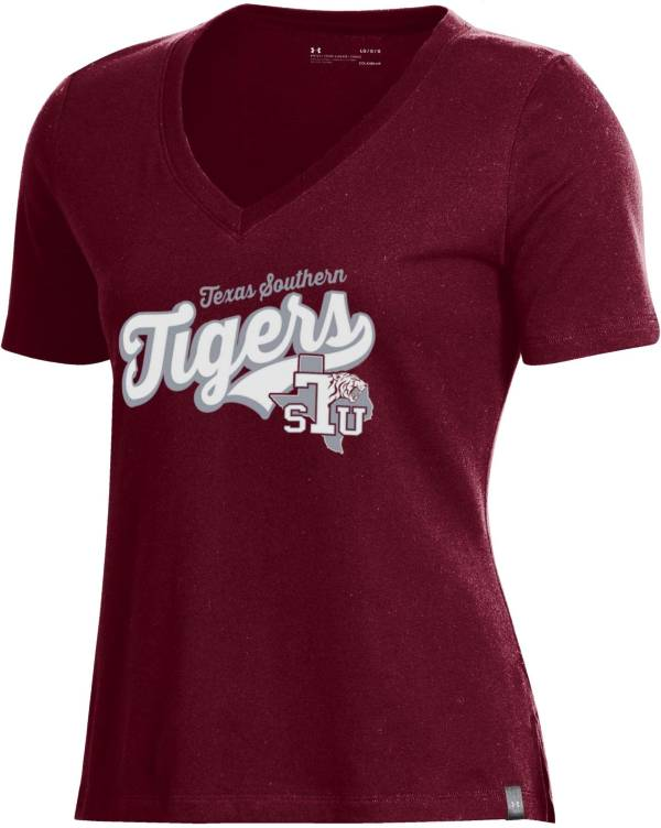 Under Armour Women's Texas Southern Tigers Maroon Performance V-Neck T-Shirt product image