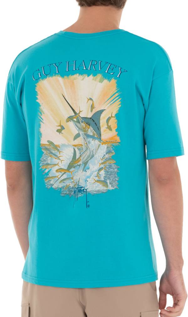 Guy Harvey Men's Offshore Haul Marlin and Mahi Pocket T-Shirt product image