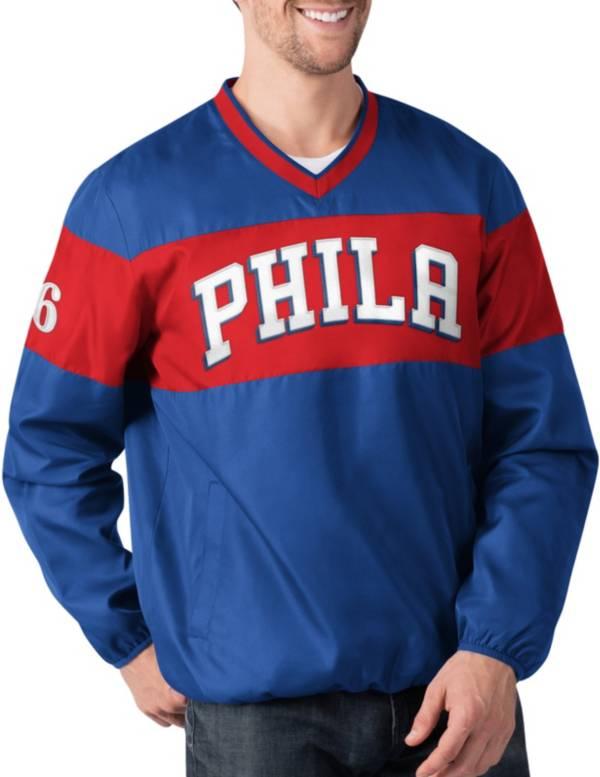 G-III Men's Philadelphia 76ers Slam Dunk Blue Pullover Jacket product image