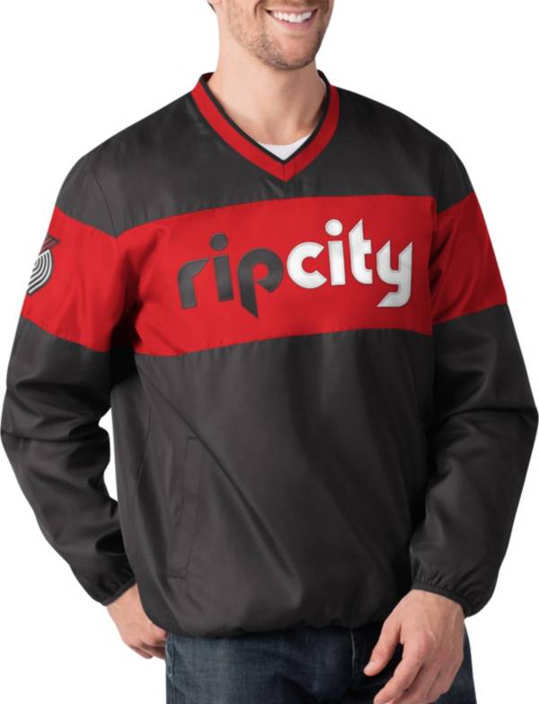 G-III Men's Portland Trail Blazers Slam Dunk Red Pullover Jacket product image