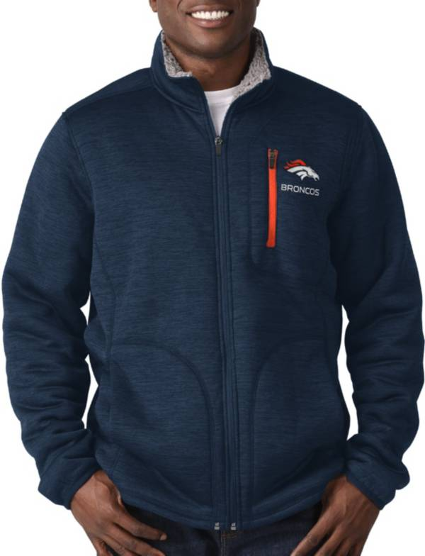 G-III Men's Denver Broncos Fast Track Navy Full-Zip Jacket product image