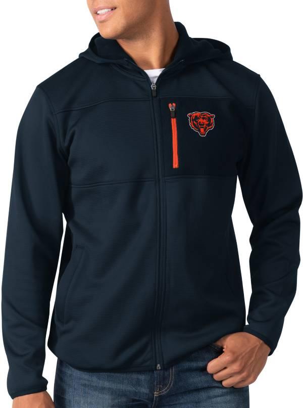 G-III Men's Chicago Bears Sprint Navy Full-Zip Jacket product image